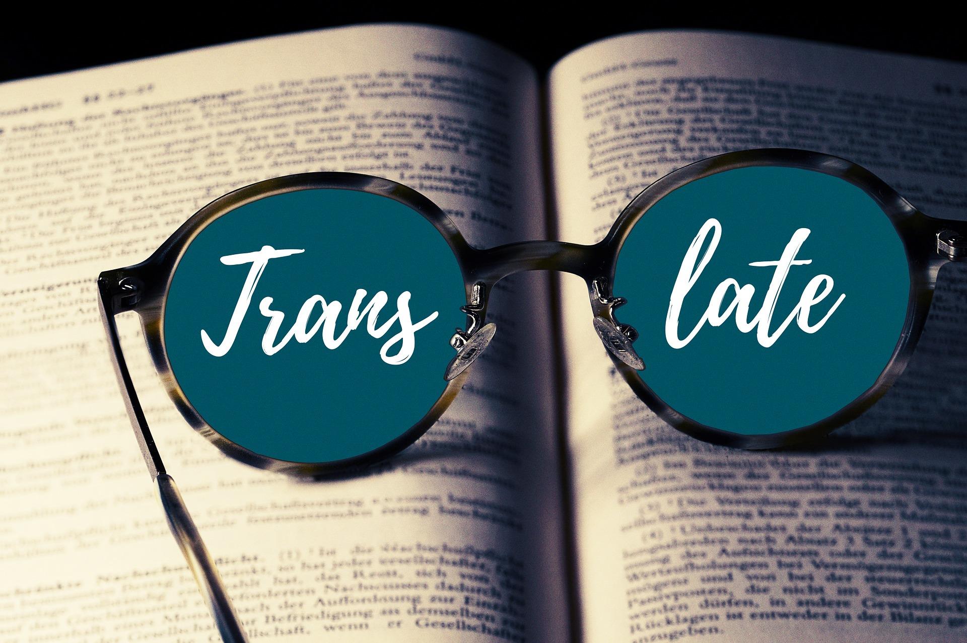 okulary tlumaczenia translate